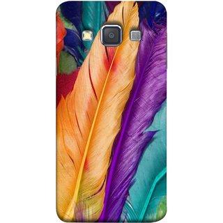 FUSON Designer Back Case Cover for Samsung Galaxy A3 (2015) :: Samsung Galaxy A3 Duos (2015) :: Samsung Galaxy A3 A300F A300Fu  A300F/Ds A300G/Ds A300H/Ds A300M/Ds (Birds Feathers Parrot Peacock Best Cover Design)
