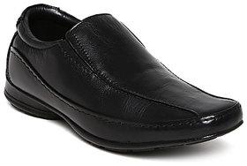 Franco Leone Men'S Black Formal Slip On Shoes