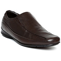 Franco Leone Men'S Brown Formal Slip On Shoes
