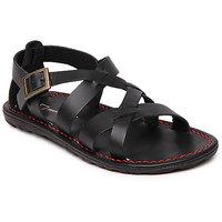 Franco Leone Men'S Black Buckle Sandals