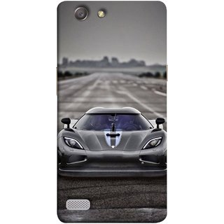 FUSON Designer Back Case Cover for Oppo Neo 7 :: Oppo A33 (Road Black White Clouds Beautiful Road Blue Side Mirror)