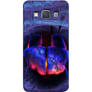 FUSON Designer Back Case Cover for Samsung Galaxy A3 (2015) :: Samsung Galaxy A3 Duos (2015) :: Samsung Galaxy A3 A300F A300Fu  A300F/Ds A300G/Ds A300H/Ds A300M/Ds (Young Beautiful Woman Smiling To Herself In Mirror)