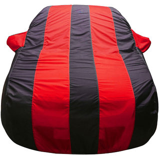 Autofurnish Stylish Red Stripe Car Body Cover For Nissan Micra Active -  Arc Blue