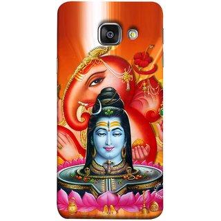 FUSON Designer Back Case Cover for Samsung Galaxy A3 (6) 2016 :: Samsung Galaxy A3 2016 Duos :: Samsung Galaxy A3 2016 A310F A310M A310Y :: Samsung Galaxy A3 A310 2016 Edition (Ganpati Shiva Om Namah Shivay Jatadhari Shankar)