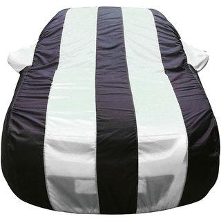 Autofurnish Stylish White Stripe Car Body Cover For Hyundai Tucson -  Arc Blue
