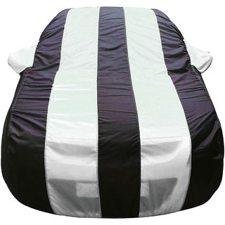 Autofurnish Stylish White Stripe Car Body Cover For Chevrolet Tavera -  Arc Blue