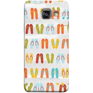 FUSON Designer Back Case Cover for Samsung Galaxy A3 (6) 2016 :: Samsung Galaxy A3 2016 Duos :: Samsung Galaxy A3 2016 A310F A310M A310Y :: Samsung Galaxy A3 A310 2016 Edition (Chappals Juta Shoes Summer Seasons Pink Red Green)