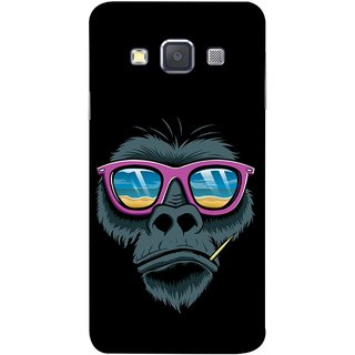 FUSON Designer Back Case Cover for Samsung Galaxy A5 (2015) :: Samsung Galaxy A5 Duos (2015) :: Samsung Galaxy A5 A500F A500Fu A500M A500Y A500Yz A500F1/A500K/A500S A500Fq A500F/Ds A500G/Ds A500H/Ds A500M/Ds A5000 (Pink  Toothpick Smoking Drawing Design)