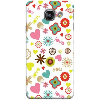 FUSON Designer Back Case Cover for Samsung Galaxy A3 (6) 2016 :: Samsung Galaxy A3 2016 Duos :: Samsung Galaxy A3 2016 A310F A310M A310Y :: Samsung Galaxy A3 A310 2016 Edition (Love You Pink Yellow Hearts Snow Red Flowers Garden )
