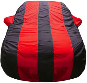 Autofurnish Stylish Red Stripe Car Body Cover For Mahin