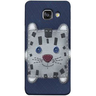 FUSON Designer Back Case Cover for Samsung Galaxy A3 (6) 2016 :: Samsung Galaxy A3 2016 Duos :: Samsung Galaxy A3 2016 A310F A310M A310Y :: Samsung Galaxy A3 A310 2016 Edition (Cloth Embroidered Shirt Jacket Patch Mouse Iron Sew)