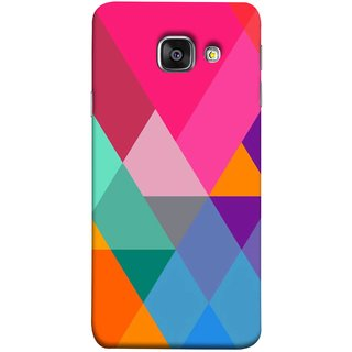 FUSON Designer Back Case Cover for Samsung Galaxy A5 (6) 2016 :: Samsung Galaxy A5 2016 Duos :: Samsung Galaxy A5 2016 A510F A510M A510Fd A5100 A510Y :: Samsung Galaxy A5 A510 2016 Edition (Abstract Painting Colored Triangles Acrylic Painting)