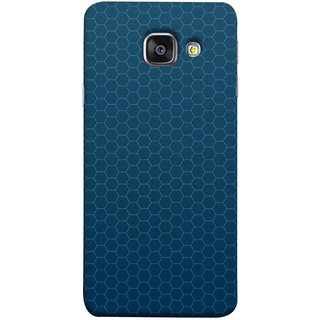 FUSON Designer Back Case Cover for Samsung Galaxy A5 (6) 2016 :: Samsung Galaxy A5 2016 Duos :: Samsung Galaxy A5 2016 A510F A510M A510Fd A5100 A510Y :: Samsung Galaxy A5 A510 2016 Edition (Hexa Design Honey Bee Hive Art Style Blue)