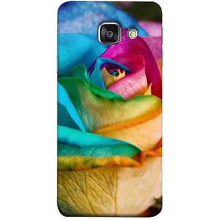 FUSON Designer Back Case Cover for Samsung Galaxy A5 (6) 2016 :: Samsung Galaxy A5 2016 Duos :: Samsung Galaxy A5 2016 A510F A510M A510Fd A5100 A510Y :: Samsung Galaxy A5 A510 2016 Edition (Rose Colours Red Pink Yellow Blue Lovely Roses)