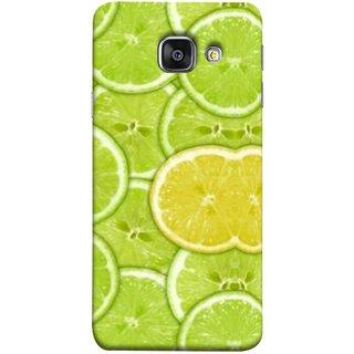 FUSON Designer Back Case Cover for Samsung Galaxy A5 (6) 2016 :: Samsung Galaxy A5 2016 Duos :: Samsung Galaxy A5 2016 A510F A510M A510Fd A5100 A510Y :: Samsung Galaxy A5 A510 2016 Edition (Lemon Lime Sweet Agriculture Farm Fresh Cut Cell)