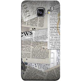 FUSON Designer Back Case Cover for Samsung Galaxy A5 (6) 2016 :: Samsung Galaxy A5 2016 Duos :: Samsung Galaxy A5 2016 A510F A510M A510Fd A5100 A510Y :: Samsung Galaxy A5 A510 2016 Edition (Book Magazine Clippings Create Text-BasedNewspaper)
