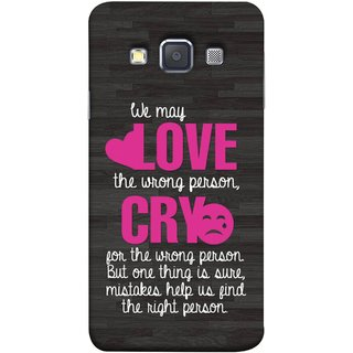 FUSON Designer Back Case Cover for Samsung Galaxy A5 (2015) :: Samsung Galaxy A5 Duos (2015) :: Samsung Galaxy A5 A500F A500Fu A500M A500Y A500Yz A500F1/A500K/A500S A500Fq A500F/Ds A500G/Ds A500H/Ds A500M/Ds A5000 (Mistakes Help Us Find Correct Person Hea