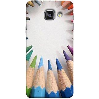 FUSON Designer Back Case Cover for Samsung Galaxy A5 (6) 2016 :: Samsung Galaxy A5 2016 Duos :: Samsung Galaxy A5 2016 A510F A510M A510Fd A5100 A510Y :: Samsung Galaxy A5 A510 2016 Edition (Color Circle Bunch Of Pencil Boys Girls Childrens School)