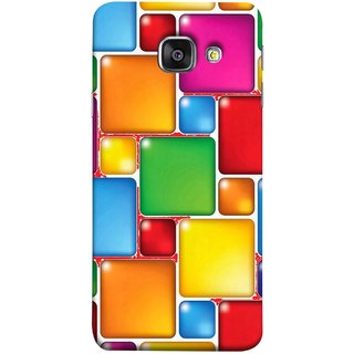 FUSON Designer Back Case Cover for Samsung Galaxy A5 (6) 2016 :: Samsung Galaxy A5 2016 Duos :: Samsung Galaxy A5 2016 A510F A510M A510Fd A5100 A510Y :: Samsung Galaxy A5 A510 2016 Edition (Glossy Mat Squares Small Honey Purple Red )