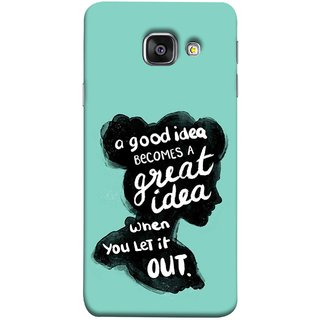 FUSON Designer Back Case Cover for Samsung Galaxy A5 (6) 2016 :: Samsung Galaxy A5 2016 Duos :: Samsung Galaxy A5 2016 A510F A510M A510Fd A5100 A510Y :: Samsung Galaxy A5 A510 2016 Edition (Black Colour Lady Photo Best Ideas Become Great)