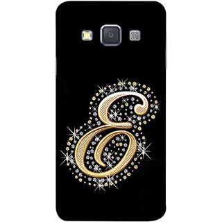 FUSON Designer Back Case Cover for Samsung Galaxy A5 (2015) :: Samsung Galaxy A5 Duos (2015) :: Samsung Galaxy A5 A500F A500Fu A500M A500Y A500Yz A500F1/A500K/A500S A500Fq A500F/Ds A500G/Ds A500H/Ds A500M/Ds A5000 (Gold Framed Alphabet Letter E Filled Wit