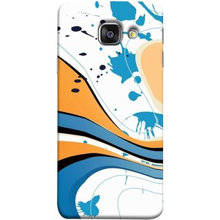 FUSON Designer Back Case Cover for Samsung Galaxy A5 (6) 2016 :: Samsung Galaxy A5 2016 Duos :: Samsung Galaxy A5 2016 A510F A510M A510Fd A5100 A510Y :: Samsung Galaxy A5 A510 2016 Edition (Paint And Patches Artist Perfect Waves Black )