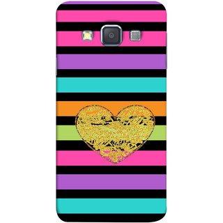 FUSON Designer Back Case Cover for Samsung Galaxy A5 (2015) :: Samsung Galaxy A5 Duos (2015) :: Samsung Galaxy A5 A500F A500Fu A500M A500Y A500Yz A500F1/A500K/A500S A500Fq A500F/Ds A500G/Ds A500H/Ds A500M/Ds A5000 (Sprinkle Gold Glitter Heart Flag Hearts