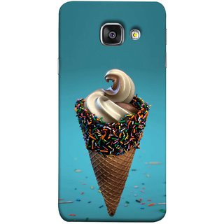 FUSON Designer Back Case Cover for Samsung Galaxy A5 (6) 2016 :: Samsung Galaxy A5 2016 Duos :: Samsung Galaxy A5 2016 A510F A510M A510Fd A5100 A510Y :: Samsung Galaxy A5 A510 2016 Edition (Pinky Frosted Sprinkled Waffle Cone Crispy Coffee Flavour)