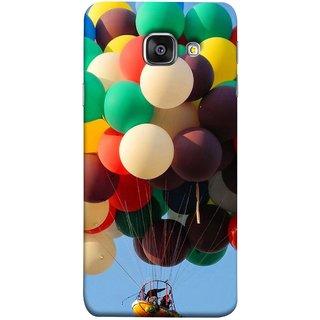 FUSON Designer Back Case Cover for Samsung Galaxy A5 (6) 2016 :: Samsung Galaxy A5 2016 Duos :: Samsung Galaxy A5 2016 A510F A510M A510Fd A5100 A510Y :: Samsung Galaxy A5 A510 2016 Edition (Up Up Sky Blue Colourful Balloons Boat Man )