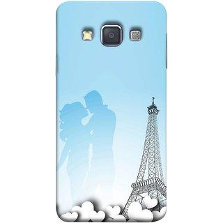 FUSON Designer Back Case Cover for Samsung Galaxy A7 (2015) :: Samsung Galaxy A7 Duos (2015) :: Samsung Galaxy A7 A700F A700Fd A700K/A700S/A700L A7000 A7009 A700H A700Yd (Eiffel Tower True Love Couples Kisses Sky )