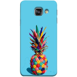 FUSON Designer Back Case Cover for Samsung Galaxy A5 (6) 2016 :: Samsung Galaxy A5 2016 Duos :: Samsung Galaxy A5 2016 A510F A510M A510Fd A5100 A510Y :: Samsung Galaxy A5 A510 2016 Edition (Light Bright Cream Pineapple Lamp Ananas Pineapple Skin)