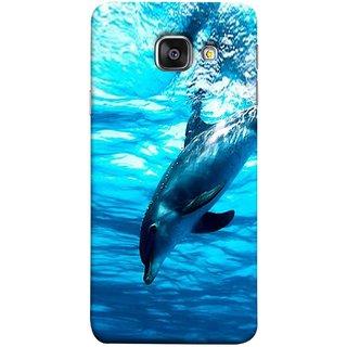 FUSON Designer Back Case Cover for Samsung Galaxy A5 (6) 2016 :: Samsung Galaxy A5 2016 Duos :: Samsung Galaxy A5 2016 A510F A510M A510Fd A5100 A510Y :: Samsung Galaxy A5 A510 2016 Edition (Dark Blue Deepblue Sea Ocean Baby Dolphin)