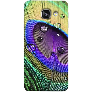 FUSON Designer Back Case Cover for Samsung Galaxy A5 (6) 2016 :: Samsung Galaxy A5 2016 Duos :: Samsung Galaxy A5 2016 A510F A510M A510Fd A5100 A510Y :: Samsung Galaxy A5 A510 2016 Edition (Close Up View Of Eyespot On Male Peacock Feather)