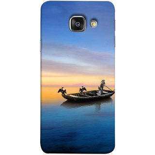 FUSON Designer Back Case Cover for Samsung Galaxy A5 (6) 2016 :: Samsung Galaxy A5 2016 Duos :: Samsung Galaxy A5 2016 A510F A510M A510Fd A5100 A510Y :: Samsung Galaxy A5 A510 2016 Edition (Water Sea Sky Beautiful Boat Cruise Horizon )