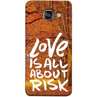 FUSON Designer Back Case Cover for Samsung Galaxy A5 (6) 2016 :: Samsung Galaxy A5 2016 Duos :: Samsung Galaxy A5 2016 A510F A510M A510Fd A5100 A510Y :: Samsung Galaxy A5 A510 2016 Edition (Trees Prem Pyar To Badi Risk Hai Very Dangerous )