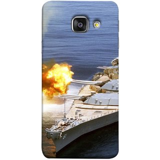 FUSON Designer Back Case Cover for Samsung Galaxy A5 (6) 2016 :: Samsung Galaxy A5 2016 Duos :: Samsung Galaxy A5 2016 A510F A510M A510Fd A5100 A510Y :: Samsung Galaxy A5 A510 2016 Edition (Ocean Missile Destroyers Ins Delhi Modern Warships)