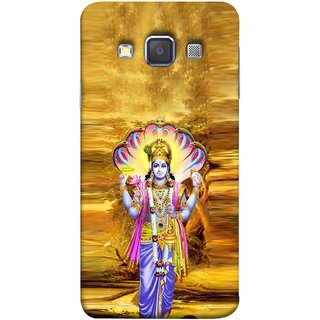 FUSON Designer Back Case Cover for Samsung Galaxy A7 (2015) :: Samsung Galaxy A7 Duos (2015) :: Samsung Galaxy A7 A700F A700Fd A700K/A700S/A700L A7000 A7009 A700H A700Yd (Krishna With Murli Sheshnag Morpankh Lotus Makhanchor)
