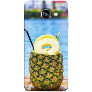 FUSON Designer Back Case Cover for Samsung Galaxy A5 (6) 2016 :: Samsung Galaxy A5 2016 Duos :: Samsung Galaxy A5 2016 A510F A510M A510Fd A5100 A510Y :: Samsung Galaxy A5 A510 2016 Edition (Fresh Pineapple Cocktails At Swimming Pool Blue Waters )