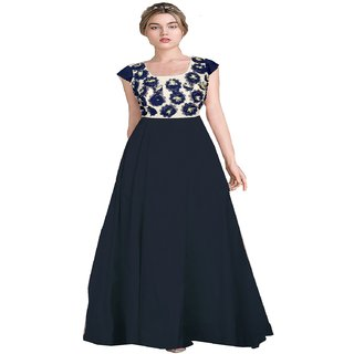 a5f33bb31f Reeva Trendz Women's Charming Blue Color Taffeta Exclusive Designer Gown