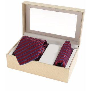 Sir Michele Designer Men's Maroon Silk Casual Broad Ties