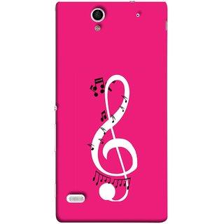 FUSON Designer Back Case Cover for Sony Xperia C4 Dual :: Sony Xperia C4 Dual E5333 E5343 E5363 (Colorful Music Notes Symbols Small Black Notes)