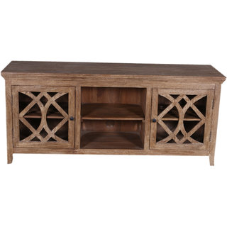 Jaitex Exports Brown Color Wooden T.V. Unit 3 Shelfs And 6 Boxes