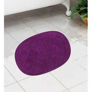 Absorbent Purple Cotton 24 x 16 Inch Bath Mat - Set of 1 by Azaani