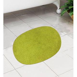 Green Cotton 24 x 16 Inch Bath Mat - Set of 1