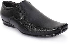 Foot N Style Black Slip On Formal Shoes For Men's  Fs05