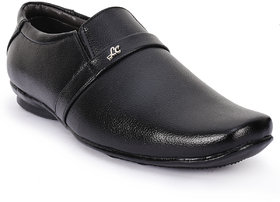 Foot N Style Black Slip On Formal Shoes For Men's  Fs05
