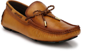 El Paso Men's Genuine Leather Lace Tan Genuine Leather