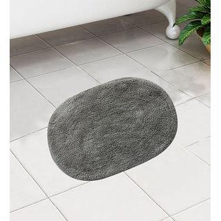 Gray Cotton 24 x 16 Inch Bath Mat - Set of 1