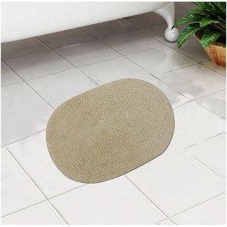 Azaani Beige Cotton 24 x 16 Inch Bath Mat - Set of 1