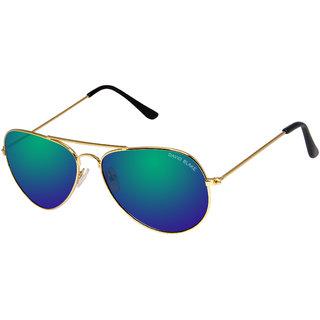 David Blake Green Aviator Mirrored UV Protection Sunglass